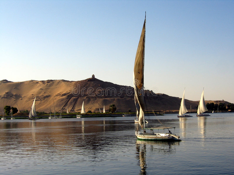 Fellukahs sur le Nil photos stock