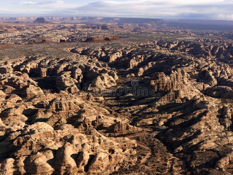 Felsen-Anordnungen in der Wüste stockbild