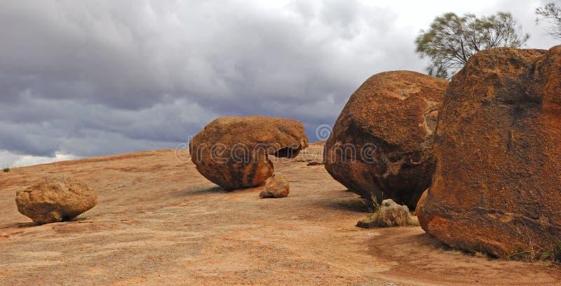 Felsen Australien-Hyden lizenzfreies stockfoto