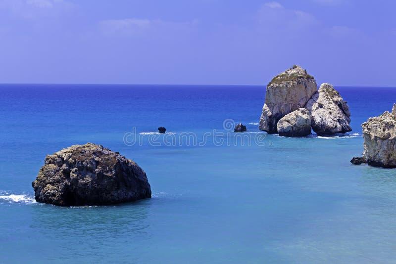Felsen der Aphrodite, Paphos, Zypern lizenzfreie stockfotos