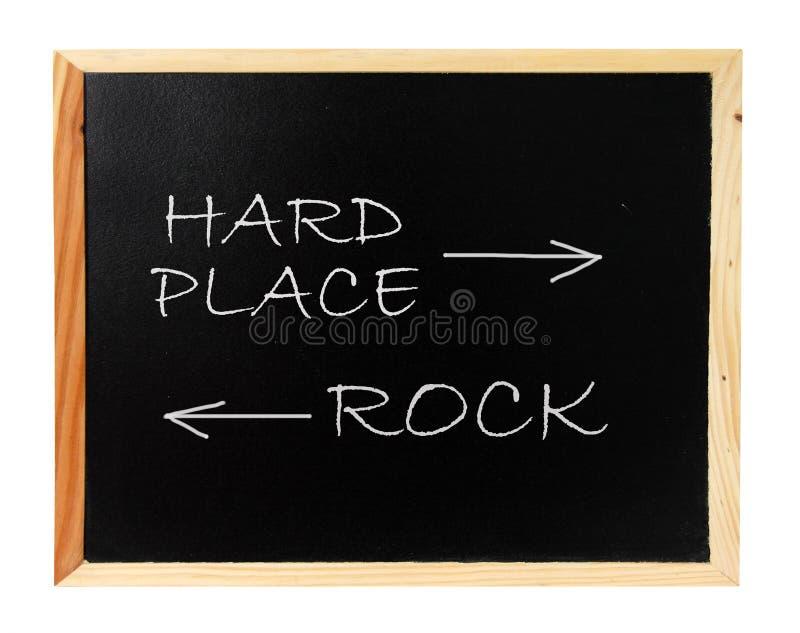 Felsen, harter Platz stockbild