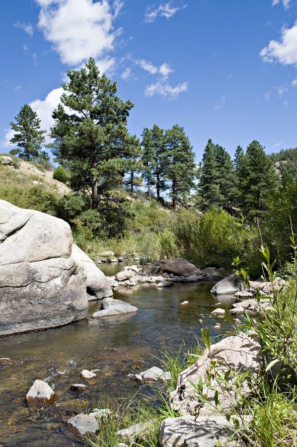 Felsen im Fluss lizenzfreies stockbild