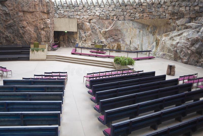 Felsen-Kirche in Helsinki lizenzfreies stockbild
