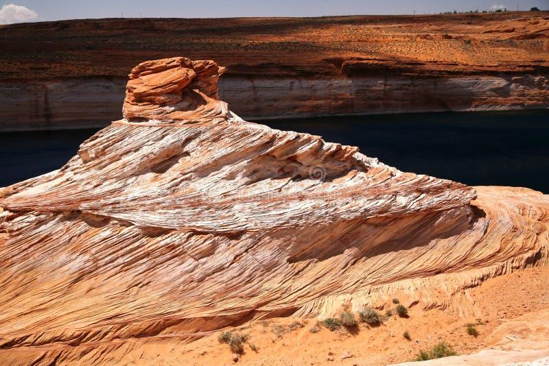 Felsen in Kolorado-Fluss in der Schlucht-Schlucht stockbilder