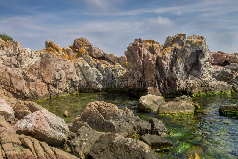 Felsen Schwarzen Meers stockbild