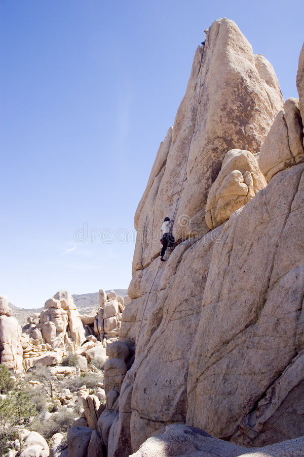 Felsen-Steigen in Südkalifornien lizenzfreie stockfotografie