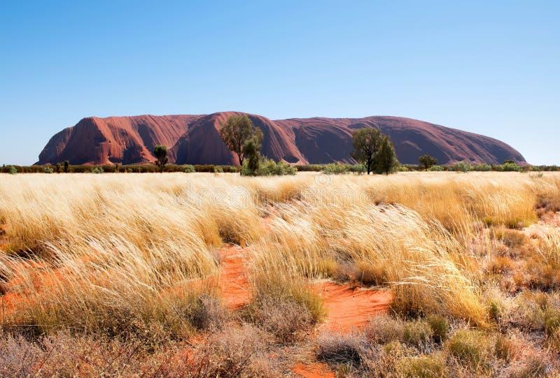 Felsen Uluru Ayers, Nordterritorium, Australien stockbild