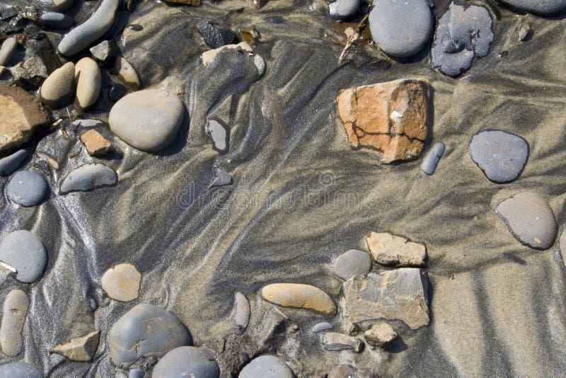Felsen und Sand lizenzfreies stockfoto