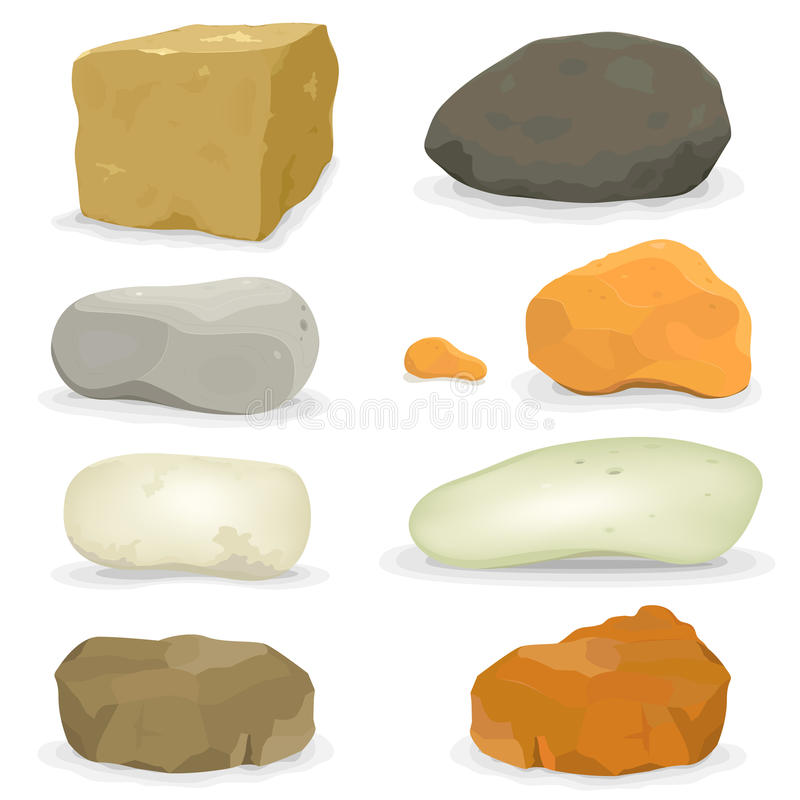 Felsen und Steine eingestellt lizenzfreie abbildung