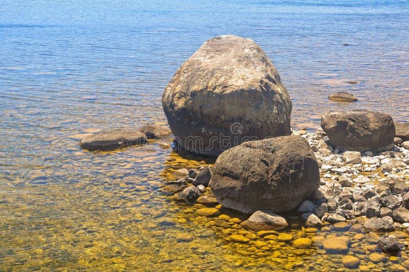 Felsen und Steine - See-St. Clair stockfotos