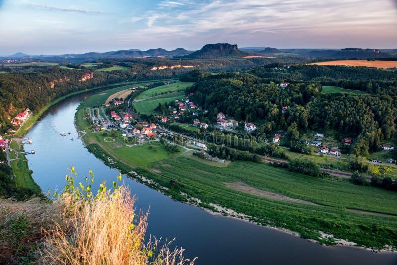 Felsen von Bastei. Deutschland. lizenzfreie stockfotos