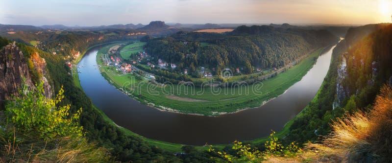 Felsen von Bastei. Deutschland. lizenzfreie stockfotografie