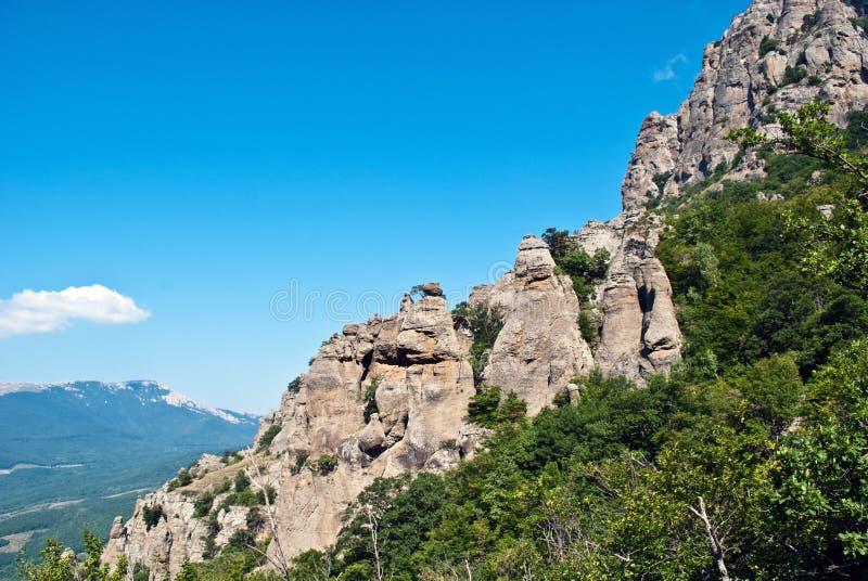 Felsen von Dimerdzhi stockbild