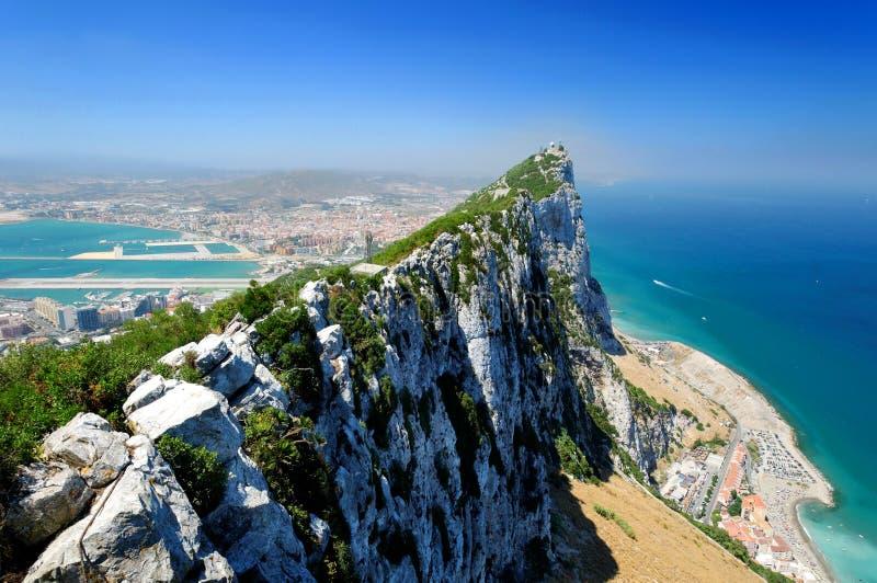 Felsen von Gibraltar stockbilder