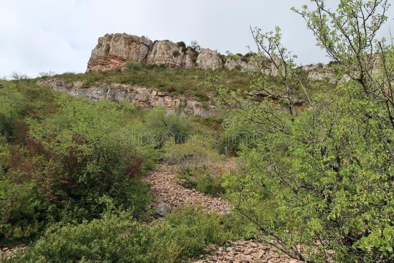 Felsen von Solutré stockbilder