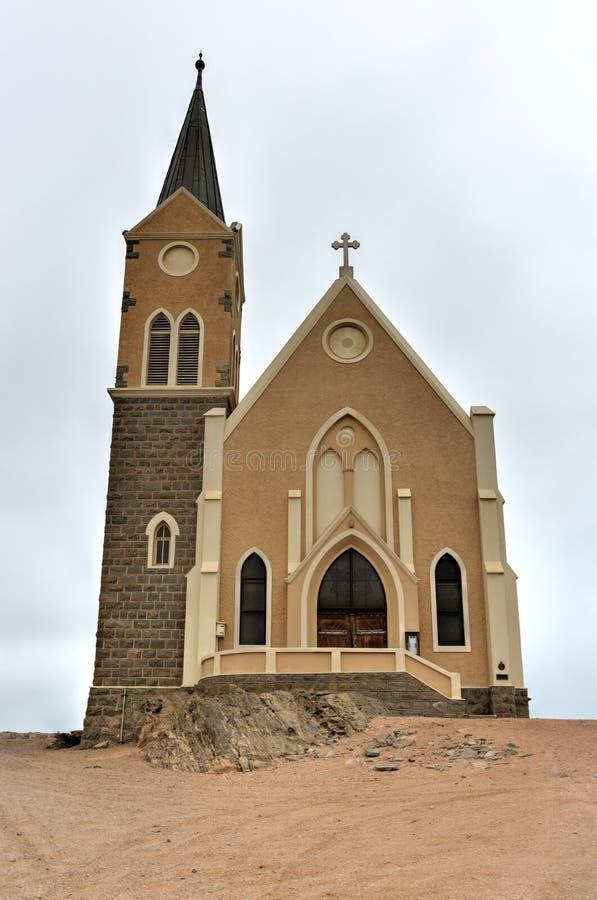 Felsenkirche - iglesia en Namibia foto de archivo