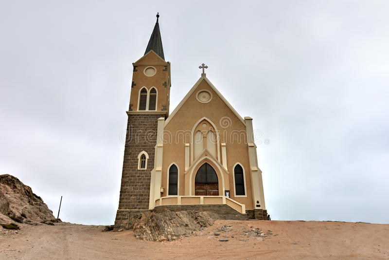 Felsenkirche - iglesia en Namibia fotos de archivo