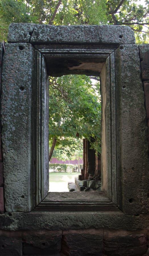 Felsenschloss Prasat Hin in historischem Park Nakonratchasima Phimai stockbilder