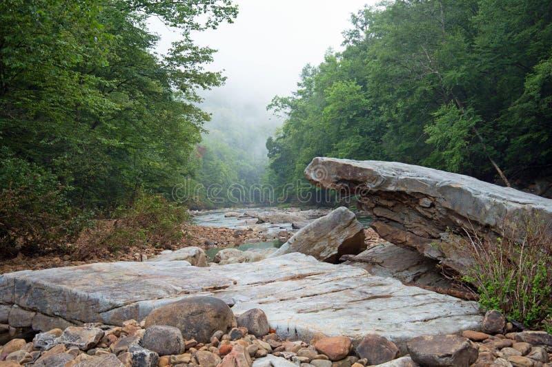 Felsformation in West Virginia lizenzfreie stockfotografie