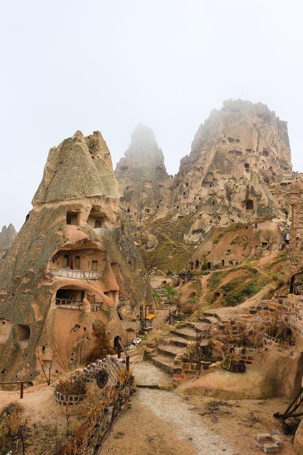 Felsformationen bei Cappadocia, Anatolien, die Türkei stockfotos