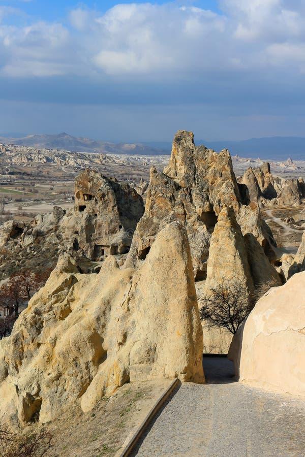 Felsformationen bei Cappadocia, Anatolien, die Türkei lizenzfreie stockfotografie