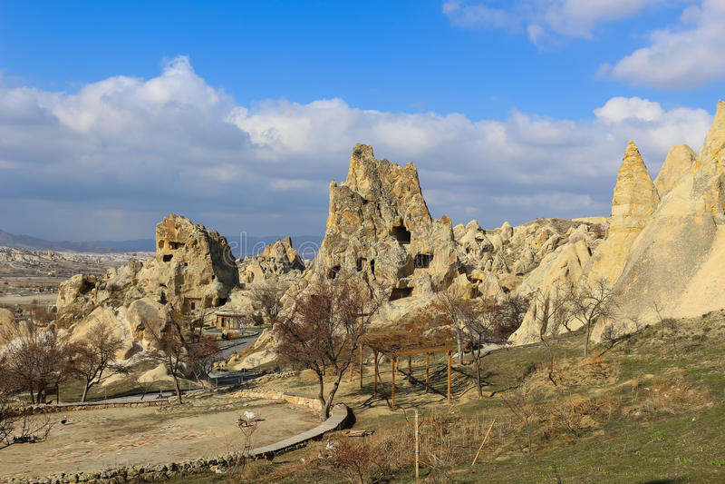Felsformationen bei Cappadocia, Anatolien, die Türkei lizenzfreies stockbild