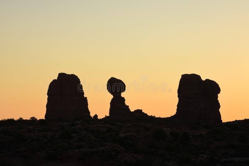 Felsformationen in den Bögen Nationalpark, Utah stockbild