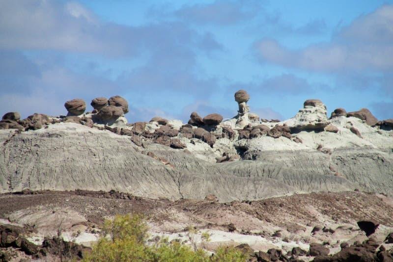 Felsformationen Ischigualasto, Valle-De-La Luna stockfotografie