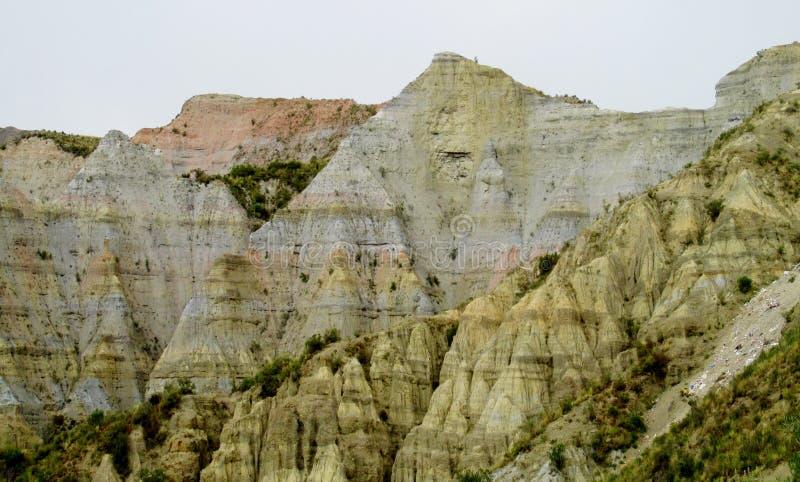 Felsformationen nahe La Paz in Bolivien stockfoto