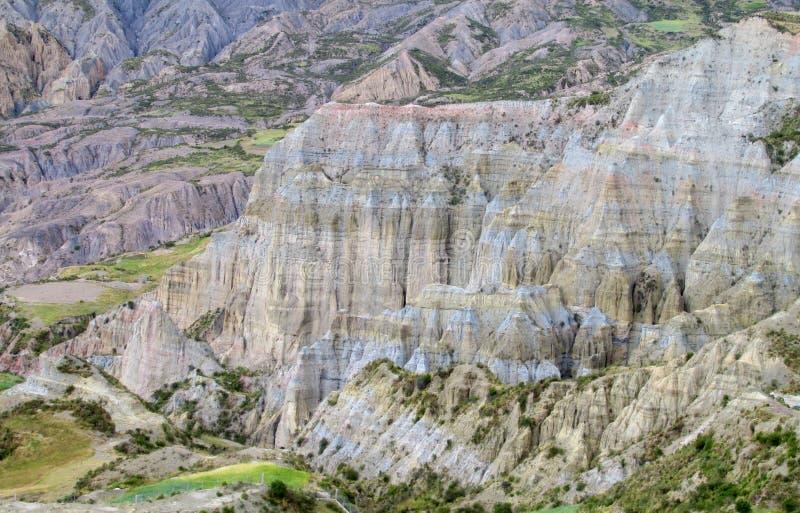 Felsformationen nahe La Paz in Bolivien lizenzfreie stockbilder