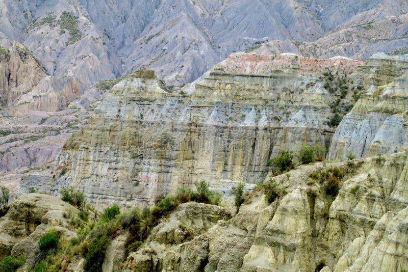 Felsformationen Valle de Las Animas nahe La Paz in Bolivien lizenzfreie stockfotografie