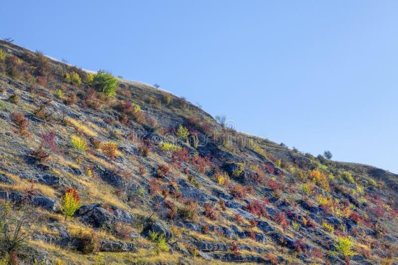 Felshügel im Herbst stockbilder