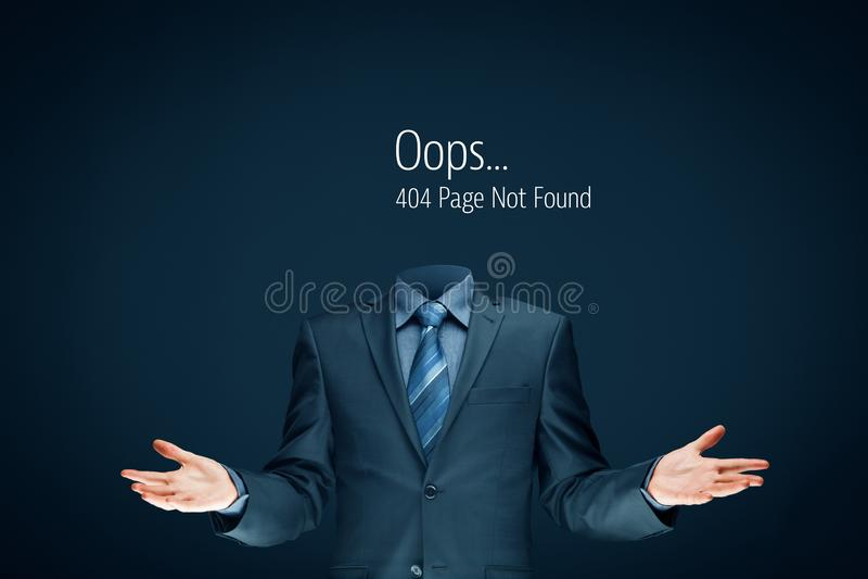 Felsida för Http 404 royaltyfria foton