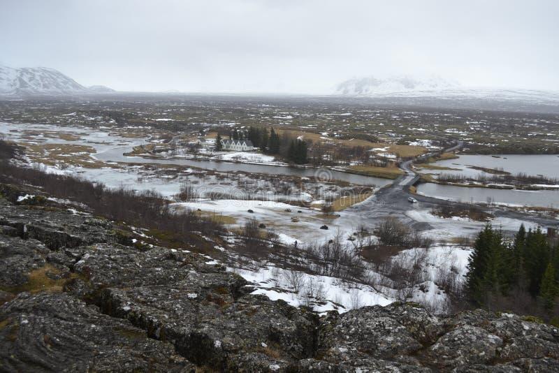 Felsige Ansicht in Island stockfotos