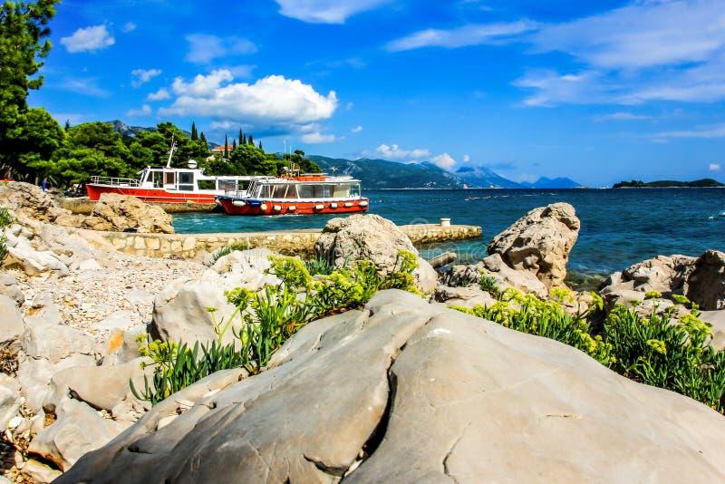 Felsige Küste Kroatien lizenzfreie stockfotos