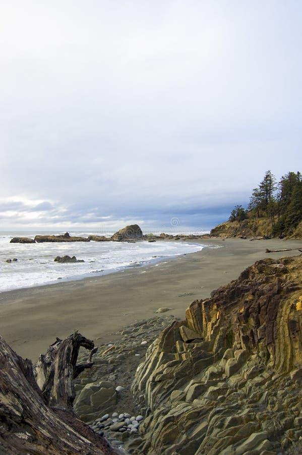 Felsiger Washington-Strand stockfotografie