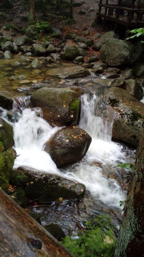 Felsiger Wasserfall stockfotografie
