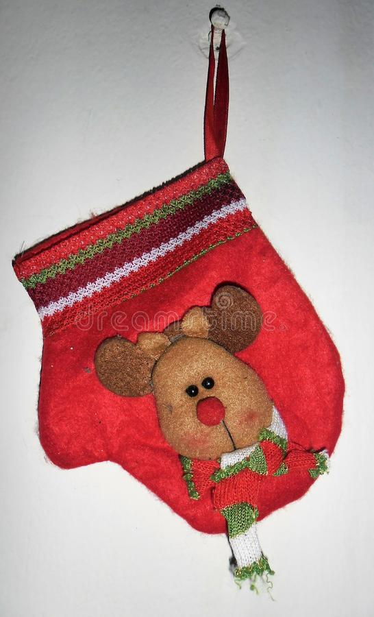 Felt Christmas decorative glove royalty free stock images