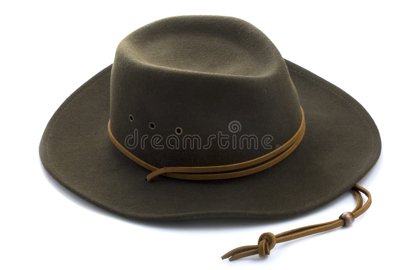 Download Felt Cowboy Hat On White Background Royalty Free Stock Images - Image: 5725569