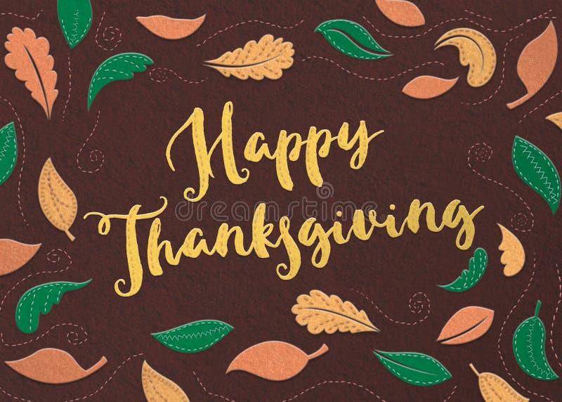 Felt Happy Thanksgiving stock photos