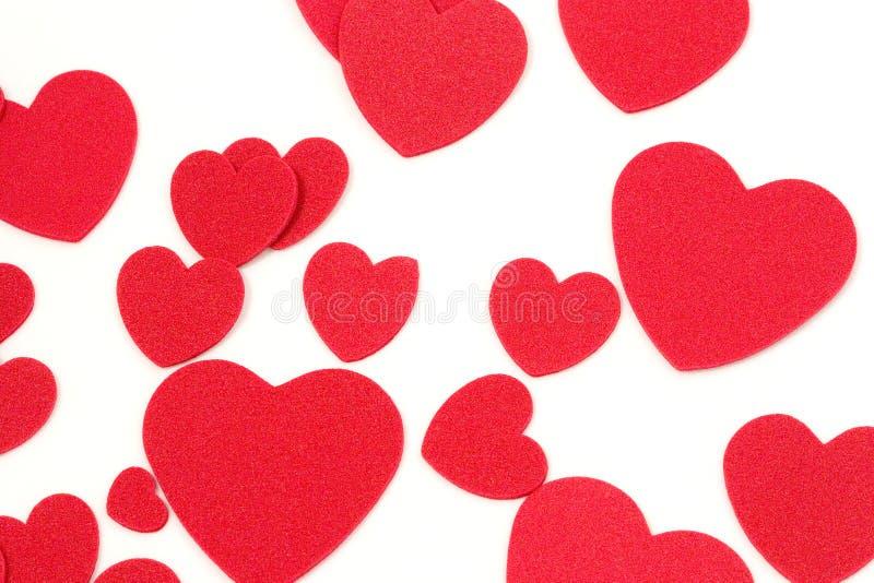 Felt Hearts stock image