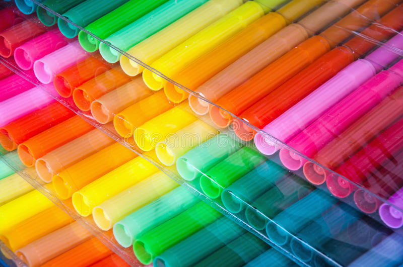 Download Felt-tip pens stock image. Image of bright, panels, buying - 17096435