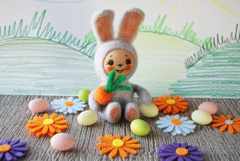 Felted-Kaninchen lizenzfreie stockbilder