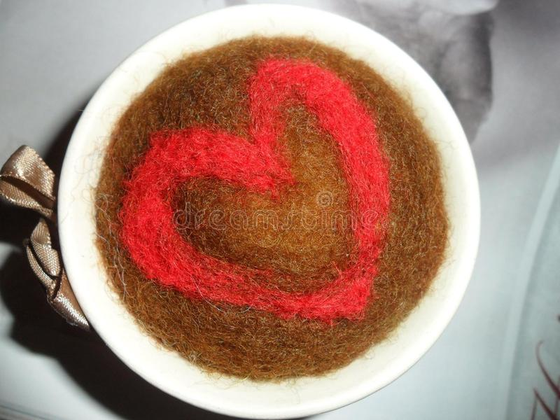 Felted pincushion, the heart! royalty free stock images