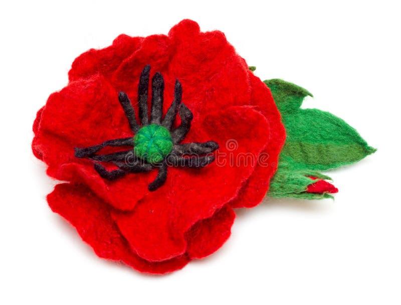 Felting poppy royalty free stock photography