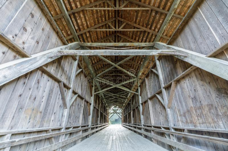 1892 Felton Covered Bridge. The Felton Covered Bridge is a covered bridge over the San Lorenzo River in Felton, Santa Cruz County in the U.S. state of royalty free stock photos