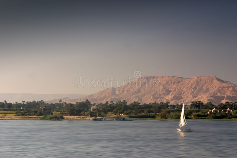 Download Felucca on the Nile stock photo. Image of river, travel - 6840854