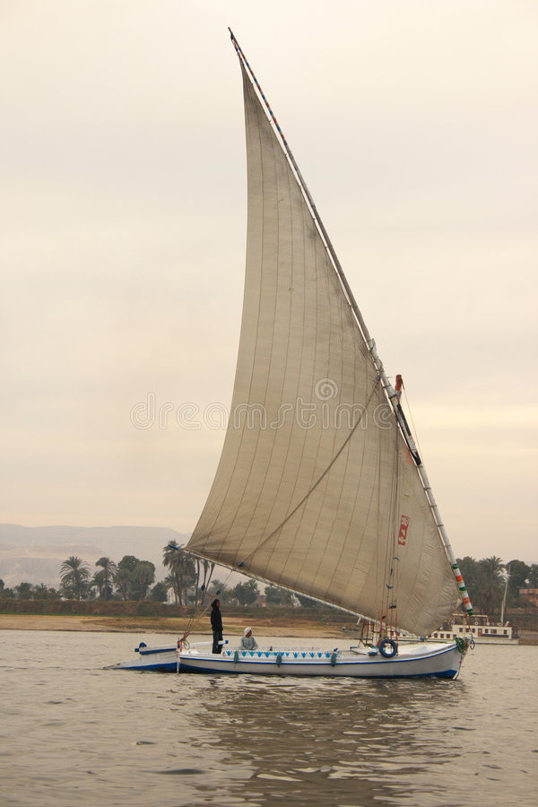 Download Felucca on Nile River stock image. Image of floating, egyptian - 4131711