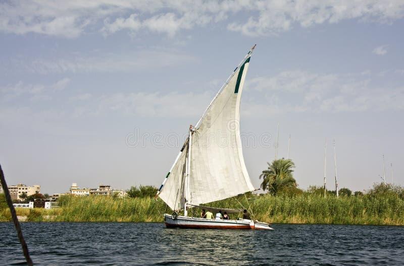 Felucca no Nile fotografia de stock royalty free