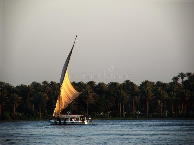 Felucca no rio de Nile fotos de stock royalty free